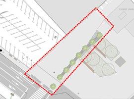 La Paeria dotarà d'ombra i arbres l'accés a la passarel·la de l'estació de trens