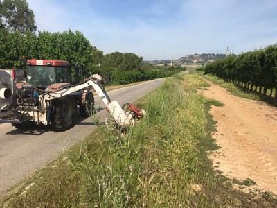 La Paeria inicia nous treballs de desbrossament de camins de l'Horta
