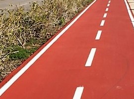 La Paeria millora de la seguretat del carril bici de Ciutat Jardí