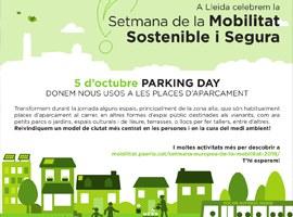 Imatge de la notícia Lleida celebra dissabte el seu primer Parking Day