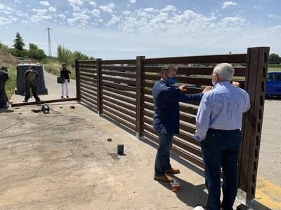 Millora de l'illa de contenidors al Camí de l'Albi per a reduir-hi els abocaments il·legals