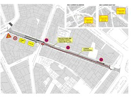 Tall de trànsit per obres de pavimentació a Anselm Clavé