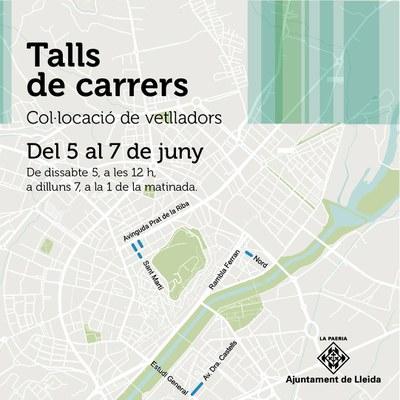 Talls de trànsit a quatre carrers de la ciutat aquest cap de setmana