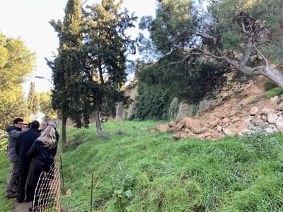 La Paeria demana col·laboració a la Generalitat per arranjar els trams malmesos de la muralla de la Seu Vella