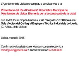 Presentació del Pla d'Ordenació Urbanística Municipal de POUM mesa de la construcció