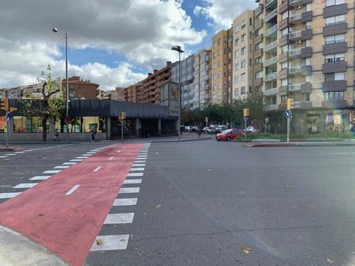 Imatge de la notícia La Paeria inicia la segona fase de construcció del carril bici a Fleming, entre Ronda i Alcalde Pujol