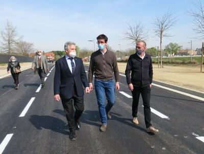 La Paeria millora la mobilitat interna a Ciutat Jardí amb la prolongació d'un tram del c/ del Roure
