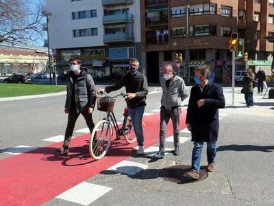 La Paeria millora la seguretat viària a la cruïlla entre Anselm Clavé i Rambla Ferran