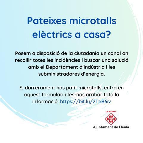 Imatge de la notícia La Paeria recollirà les incidències dels microtalls elèctrics a la ciutat per intercedir i buscar solucions amb les empreses subministradores