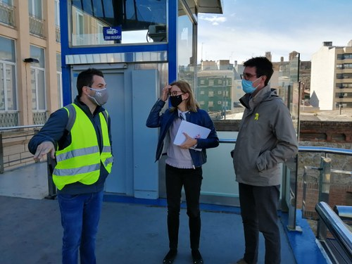 Imatge de la notícia La Paeria revisarà el mur de contenció del Canyeret, per garantir el seu bon estat de conservació