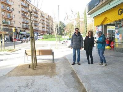 Llesta la renovació de la cruïlla entre els carrers Pallars, Ramon Llull i Alcalde Porqueres