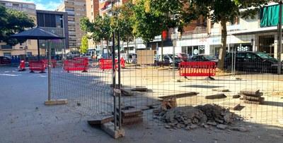 Obres de condicionament de les places del Treball i Sant Joan de Mata i del carrer Roca Lletjós
