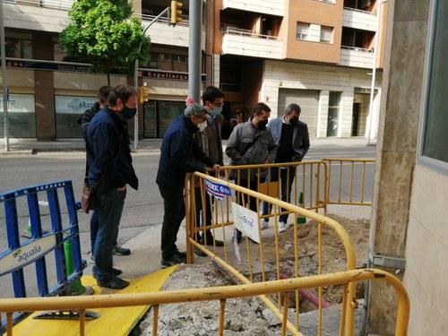 Imatge de la notícia Renovació d'un tram de la xarxa d'aigua potable al carrer Comtes d'Urgell