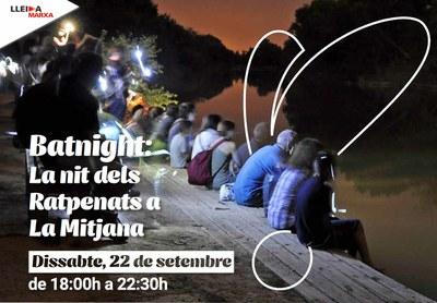 Imatge del event Batnight. La nit dels ratpenats a la Mitjana- Dissabte, 22 de setembre de 2018