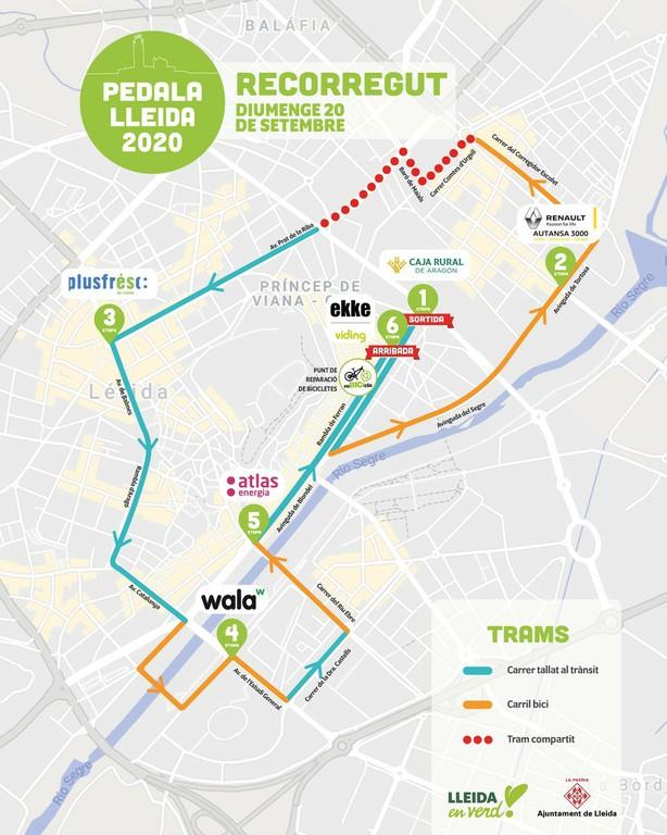 Plànol recorregut pedala Lleida 2020 def