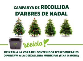 Imatge de la notícia L'Ajuntament de Lleida fomenta el reciclatge amb la recollida d'arbres de Nadal