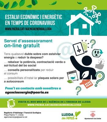 L'Ajuntament de Lleida posa en marxa una campanya informativa sobre consells d'ús i estalvi d'energia adreçada a particulars i pimes