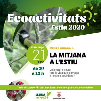 L'Ajuntament de Lleida reprèn el programa d'Ecoactivitats amb visites guiades als espais verds de la ciutat situats a l'entorn del riu Segre