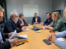 L'alcalde Fèlix Larrosa es reuneix amb la presidenta de la Confederació Hidrogràfica de l'Ebre