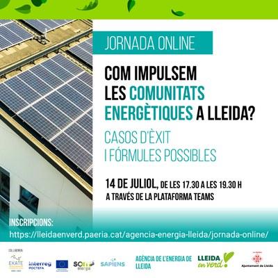 La Paeria organitza una jornada informativa per a impulsar les comunitats energètiques a Lleida