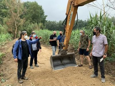 L'Ajuntament de Lleida executa les obres del tram nord del Camí del Riu