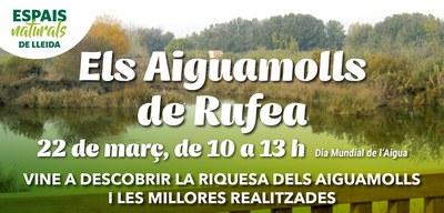 Lleida commemora el Dia Mundial de l'Aigua amb la presentació de la millora dels Aiguamolls de Rufea a tota la ciutadania