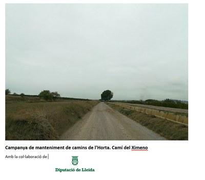 Manteniment dels Camins Municipals de l'Horta