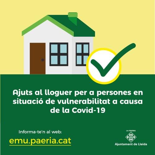Imatge de la notícia Oberta la convocatòria d'ajuts al lloguer de fins a 450 euros mensuals per a persones en vulnerabilitat