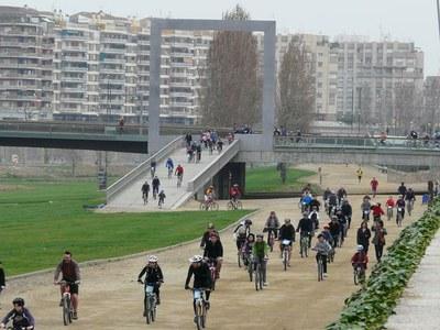 Pedalada popular en el marc de la celebració de l'any 2010 del riu Segre