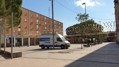 Unitat mòbil de control de la contaminació atmosfèrica al Secà de Sant Pere