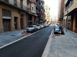 Finalitzen les obres al carrer Comtes d'Urgell