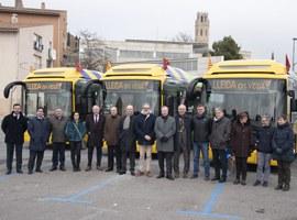"""Lleida estrena 5 nous busos híbrids, dins de l'aposta per la """"revolució verda"""" a la ciutat"""