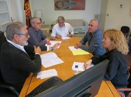 Reunió de treball del Paer en Cap, Fèlix Larrosa, amb els presidents de les EMD's de Sucs i Raimat