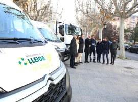 """La """"revolució verda"""" de Lleida avança amb els nous vehicles de neteja urbana i de recollida de residus"""